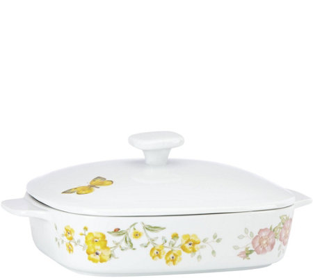 Lenox Butterfly Meadow Square Covered Casserole