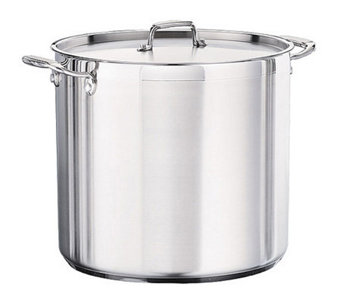 Tramontina 24-qt Pro. Covered Stock Pot with Stainless Lid - K121318
