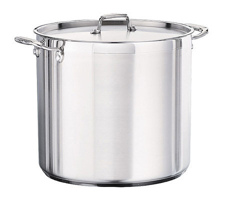 Tramontina 24-qt Pro. Covered Stock Pot with Stainless Lid
