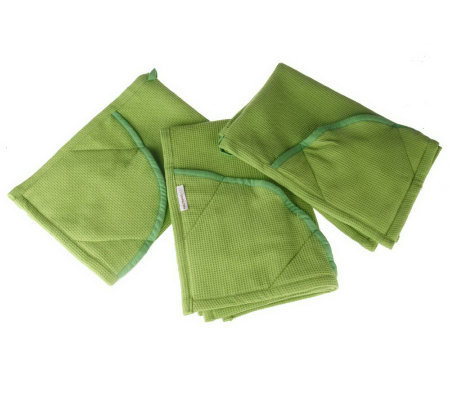 Rachael Ray Set of 3 Moppines Oven Mitts/ Kitchen Towels