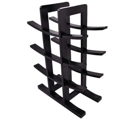 Sorbus Bamboo 12-Bottle Wine Rack