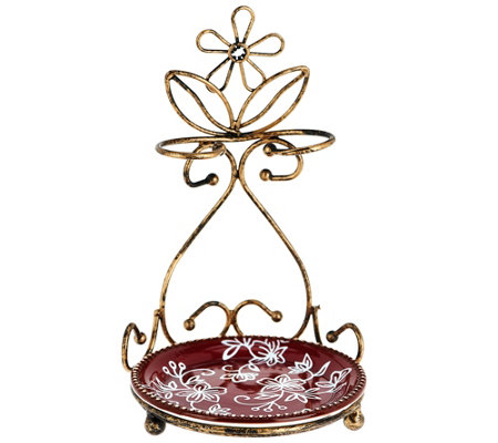 Temp-tations Floral Lace Spoon Rest Antique Gold
