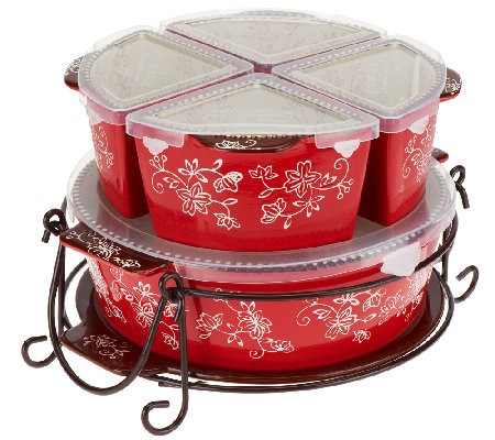 Temp-tations 7-pc. Winter Garden or Floral Lace Baker Set