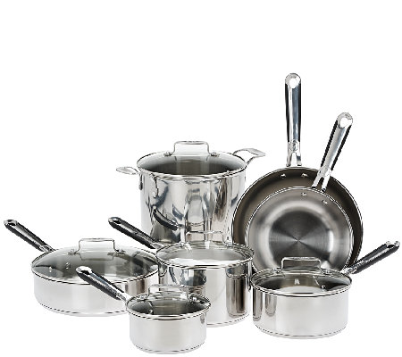 Emeril 12-Piece Stainless Steel Cookware Set