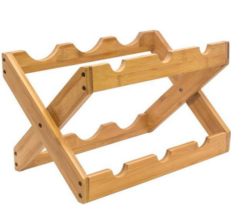 Sorbus Bamboo Countertop 6-Bottle Wine Rack