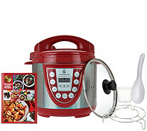 Cook's Essentials 4qt. SS Digital Pressure Cooker w/ Glass Lid - K44020