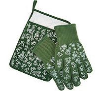 Temp-tations Floral Lace 3-piece Glove & Trivet Set - K45220