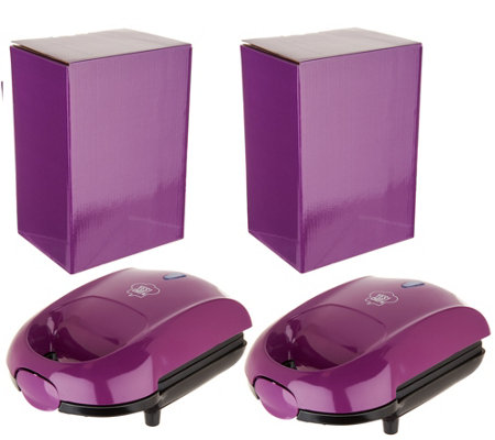 Yes Chef! Set of 2 Hot Pocket Sandwich Makers w/ Gift Boxes