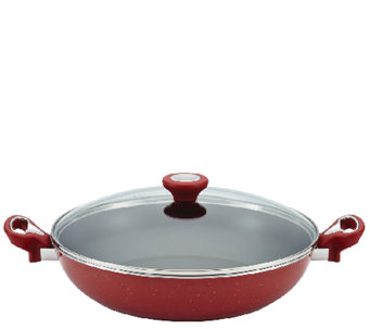 "Farberware New Traditions Speckled 12-1/2"" Covered Skillet - K303921"