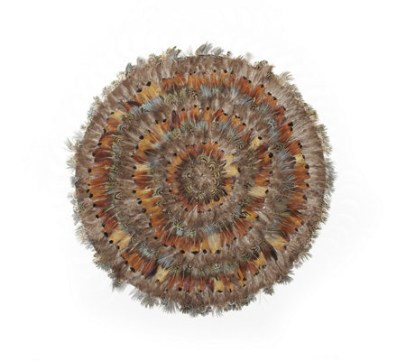 Two's Company Set of 6 Pheasant Park Round Mats