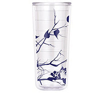 ThermoServ Set of (4) 18-oz Tritan Tumblers - Dogwood Floral - K376321