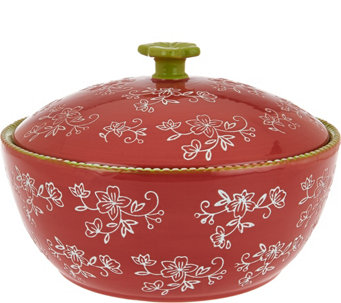 Temp-tations Floral Lace 2.5 qt. Round Baker w/Figural Domed Lid - K43521