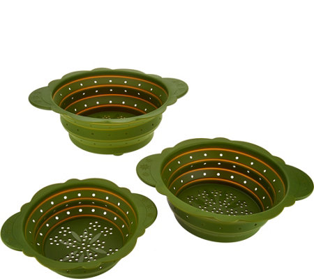 Temp-tations Old World Set of 3 Collapsible Colanders