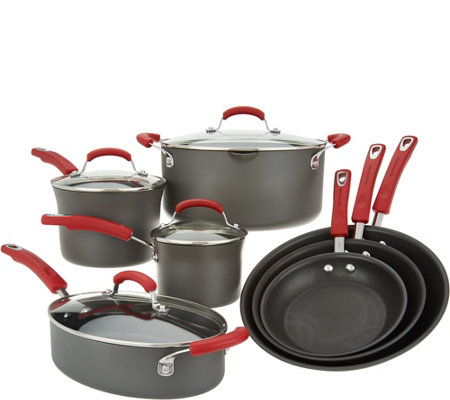 Rachael Ray 11-Piece Hard-Anodized Cookware Set