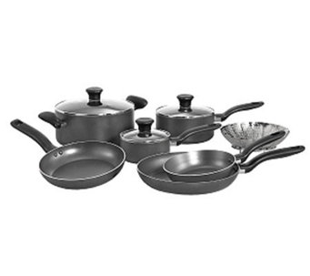 T-Fal A821SA94 Initiatives 10-Piece Cookware Set - Gray - K299622