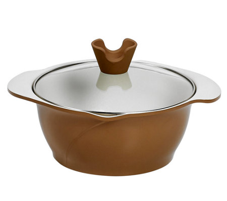 Anna Boiardi 2.37-qt Covered Casserole with 2 Spouts