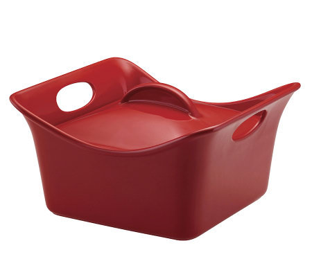 Rachael Ray 3.5-Qt Stoneware Casserole - Red