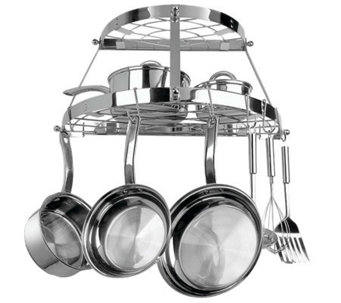 Range Kleen Double Shelf, Wall-Mountable Pot Rack - K300023