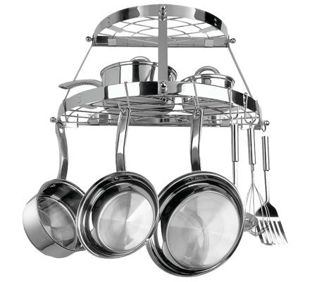 Range Kleen Double Shelf, Wall-Mountable Pot Rack