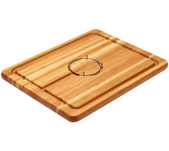 Snow River Gripper Cherry Wood Carving Board - K302623