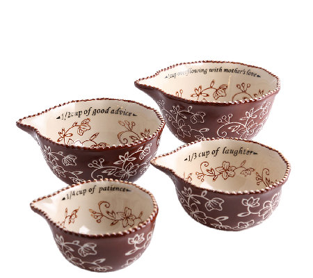 Temp-tations Floral Lace Sentiment Measuring Cups