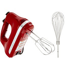 Ships 10/29 KitchenAid 5-Speed Hand Mixer w/ Wire Whisk - K46723