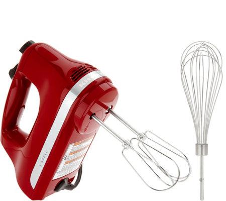 ships kitchenaid 5speed hand mixer w wire whisk - Kitchen Aid Hand Mixer