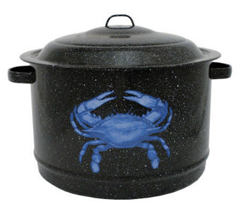 19-qt Crab Pot Enamel-on-Steel with Lid - K129924
