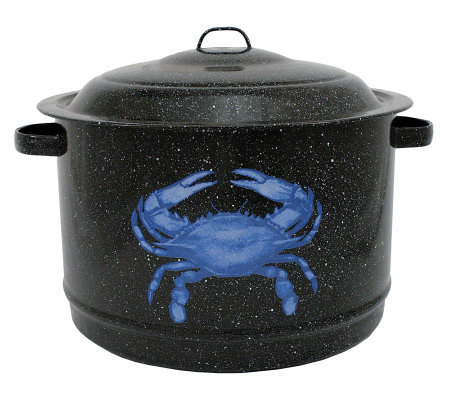 19-qt Crab Pot Enamel-on-Steel with Lid