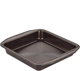 "Circulon Symmetry Chocolate Nonstick 9"" SquareCake Pan - K305924"