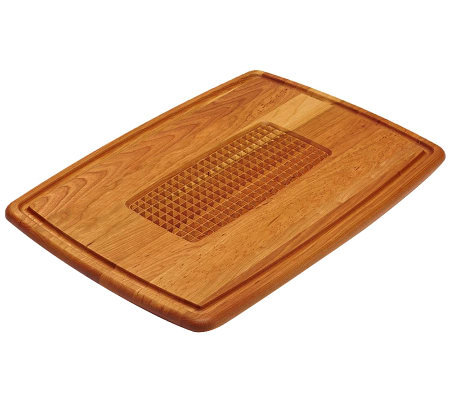 Snow River Pyramid Cut Cherry Wood Carving Board
