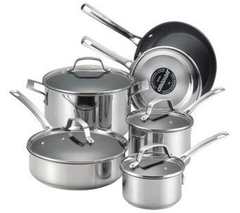 Circulon Genesis Stainless Steel 10-Pc CookwareSet - K302925