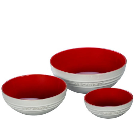 Le Creuset Set of Three Bowls