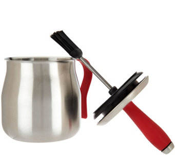 Cook's Essentials Stainless Steel BBQ Basting Pot - K44725