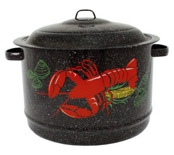 19-qt Lobster Pot Enamel-on-Steel with Lid - K129926