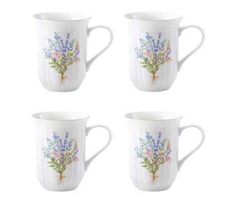 Mikasa Botanical Bouquet 14-oz Mugs - Set of 4