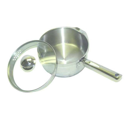 T-Fal Cook & Strain Stainless Steel 3-Qt SaucePan