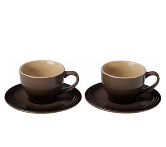 Le Creuset Set of 2 Cappuccino Cups and Saucers - K301026