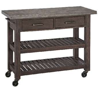 Home Styles Concrete Chic Indoor/Outdoor Kitchen Cart - K303626