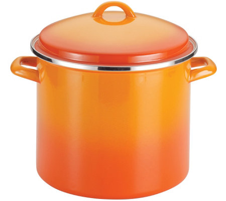 Rachael Ray Enamel on Steel 12-qt Covered Stockpot