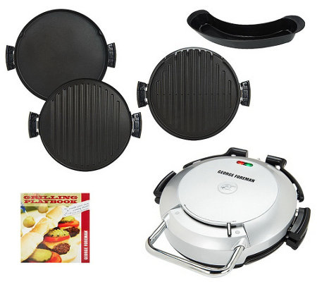 As is george foreman 360 grill with 2 removable plates - Largest george foreman grill with removable plates ...