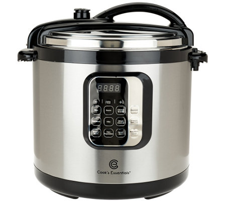 Cook's Essentials 10qt Round Digital Stainless Steel Pressure Cooker