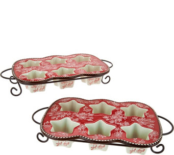 Temp-tations Floral Lace Set of 2 Muffin Pans - K44027