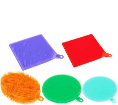 CooksEssentials Set of 5 Multi-Color Silicone Sponges