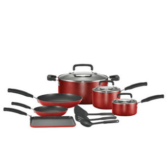 T-Fal 12 Piece Cookware Set - Red - K130328