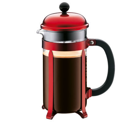 Bodum Chambord French Press 34-oz Coffee Maker- Red