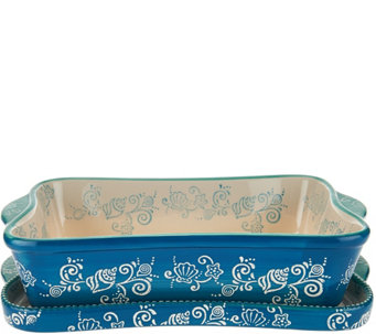 Temp-tations Floral Lace 11x7 Baker with Deep Lid-it - K43528
