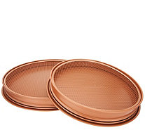 "Copper Chef 12"" and 15"" Perfect Pizza and Crisper Pans - K47128"
