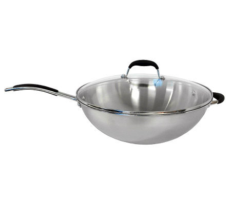 SPT Three-Ply Wok with Glass Lid