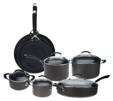 Technique Hard Anodized Dishwasher Safe 12-pc Cookware Set